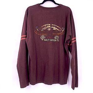 Harley Davidson long sleeve shirt large maroon